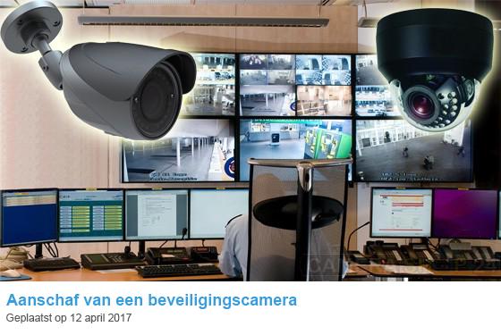 Aanschaf beveiligingscamera