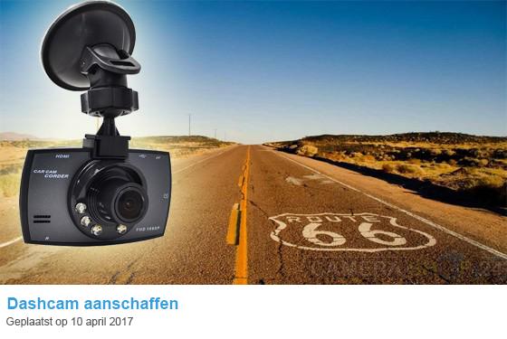 Dashcam aanschaffen