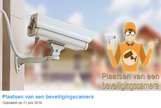 Plaatsen van een beveiligingscamera
