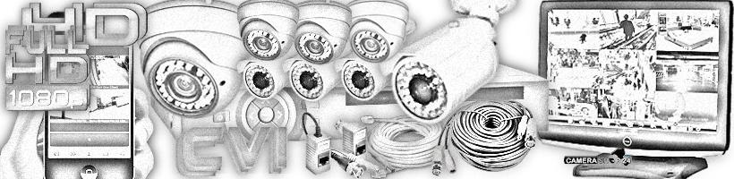 CVI camera sets 8 camera's vervanger voor bestaande installaties