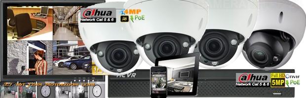 NVR recorder met PoE en dome IP camera's