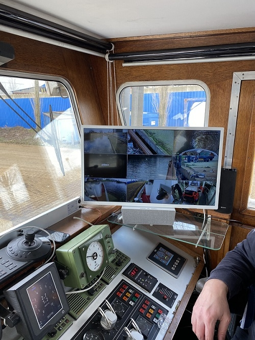 Camerasysteem installatie schip