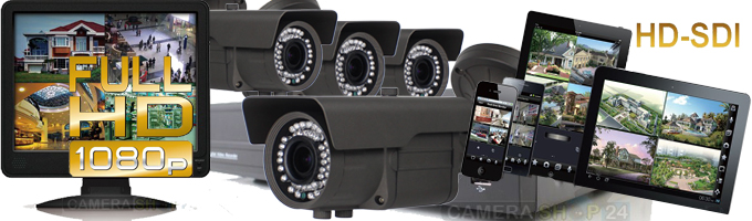 Plaatje Set nachtzicht Bewakingscamera SDI
