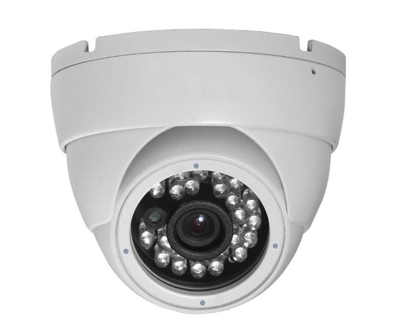 Wit CCTV infrarood dome bewakingscamera