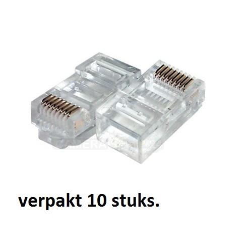 RJ45 UTP plug 10 stuks - rj1