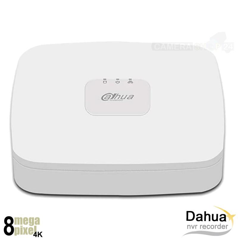 Dahua 4K NVR recorder voor 8 camera's - 8x PoE - NVR6MP8Q