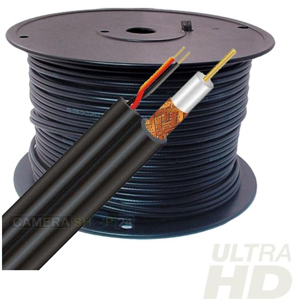 100 meter combi coax / 12v kabel analoog/cvi/tvi/ahd - cck7