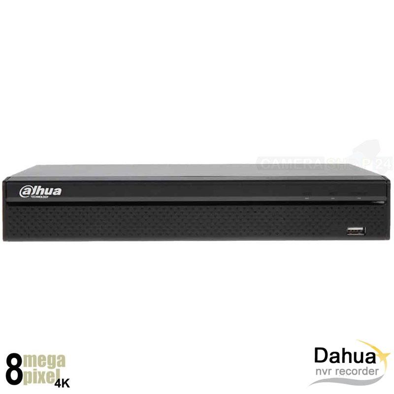 Dahua 4K NVR recorder voor 16 camera's - 8x PoE+ - UHDDV161Q