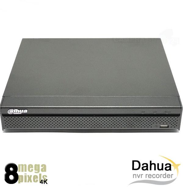 8 kanaals Dahua NVR 4K 8 megapixel - 8 x PoE+ uhddv81q