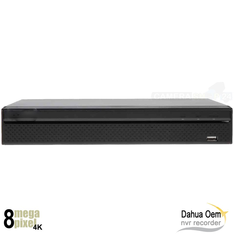8 kanaals Dahua OEM NVR 8 megapixel 8 x PoE - nvr8mp2q