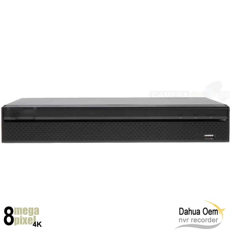 Dahua OEM 4K NVR recorder voor 16 camera's - no PoE - 2x HDD - NVR3216Q