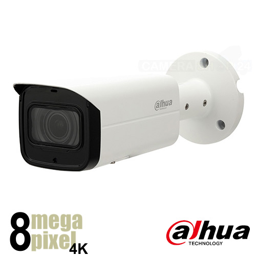 Dahua 4K IP camera - 60m nachtzicht - motorzoom - starlight - SD-kaart slot - uhb2
